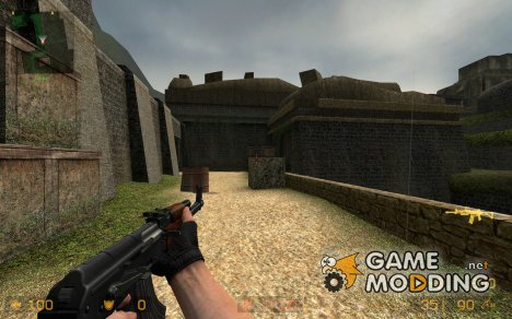 No stock AK47 on valves ak47 anims for galil для Counter-Strike Source