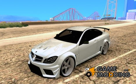 Mercedes-Benz C63 AMG Black Edition [ImVehLM] для GTA San Andreas