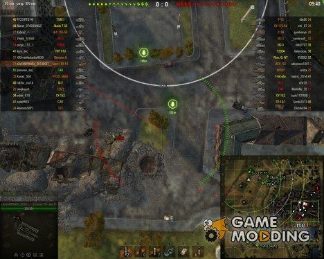 Поваленные деревья и разрушенные объекты на мини карте для World of Tanks