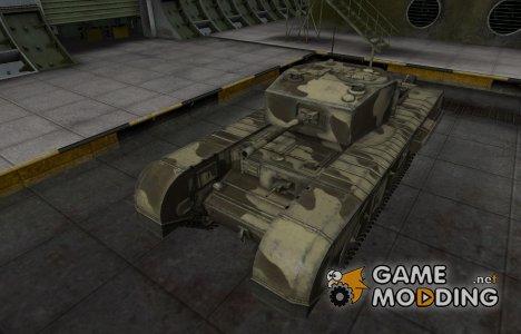 Пустынный скин для Черчилль III for World of Tanks