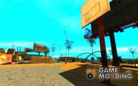 Текстуры баскетбольной площадки для GTA San Andreas