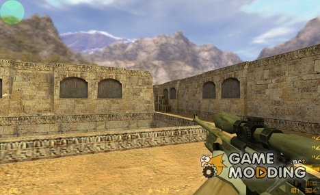 AWP desert camo для Counter-Strike 1.6
