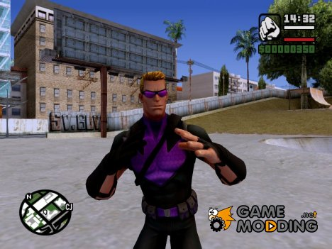 Hawkeye without weapons для GTA San Andreas