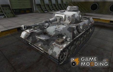 Камуфлированный скин для PzKpfw III/IV для World of Tanks