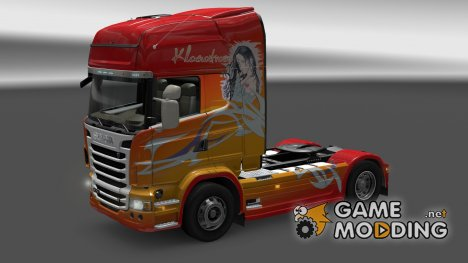 "Скин ""KlanaTrans"" Scania R for Euro Truck Simulator 2"