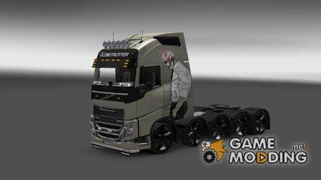 Skin Volvo FH 2012 Skelet для Euro Truck Simulator 2