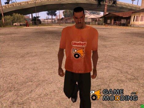 Кожаная футболка smalloff for GTA San Andreas