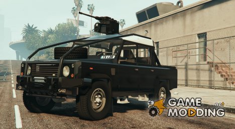 Land Rover 110 Pickup Armoured with Deactivated Turret 1.1 для GTA 5