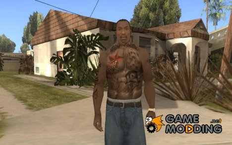 CJs Tattoos Mod (Skin) for GTA San Andreas