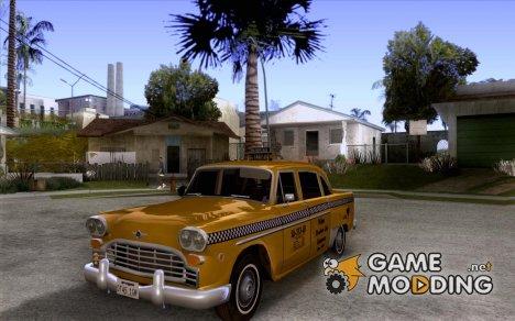 Checker Marathon Yellow CAB for GTA San Andreas