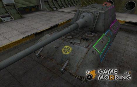 Контурные зоны пробития JagdPz E-100 для World of Tanks