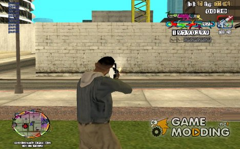 C-HUD by Cross edited SampHack. для GTA San Andreas