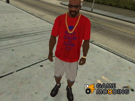 Keep calm and love CJ t-shirt для GTA San Andreas