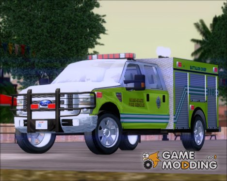 Ford F350 XLT Super Duty Miami Dade Fire Department Batalion Chief 12 for GTA San Andreas