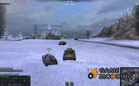 Мод панель повреждений for World of Tanks