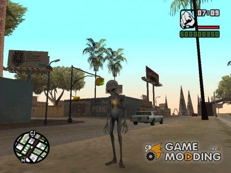 Инопланетянин для GTA San Andreas