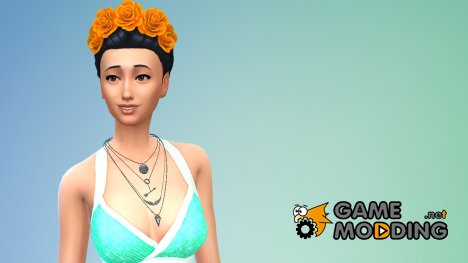 Ожерелье Gold Dust for Sims 4