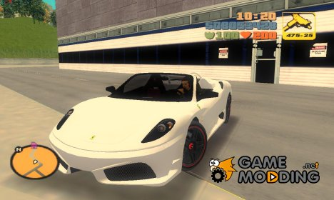 "Ferrari F430 Scuderia M16 ""TT Black Revel"" for GTA 3"