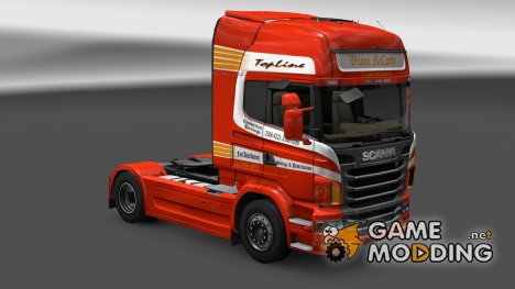 "Скин ""Wilson McCurdy"" Scania R for Euro Truck Simulator 2"