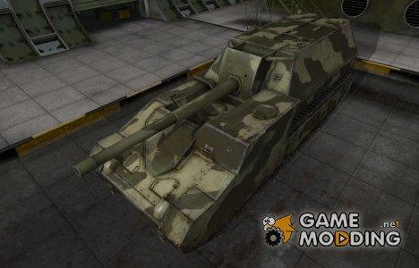 Пустынный скин для СУ-14 for World of Tanks