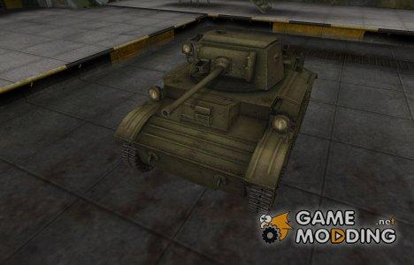 Шкурка для MkVII Tetrarch в расскраске 4БО for World of Tanks