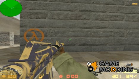M4A1-S Golden Coil for Counter-Strike 1.6