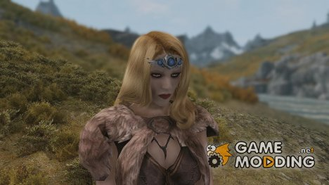 Morokei Dragon Priest Silver and Moonstone Circlet для TES V Skyrim