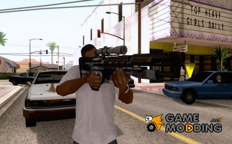 Gauss gun for GTA San Andreas