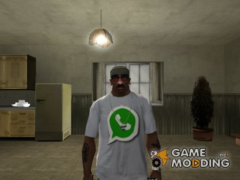 "Футболка с логотипом ""WhatsApp"" for GTA San Andreas"