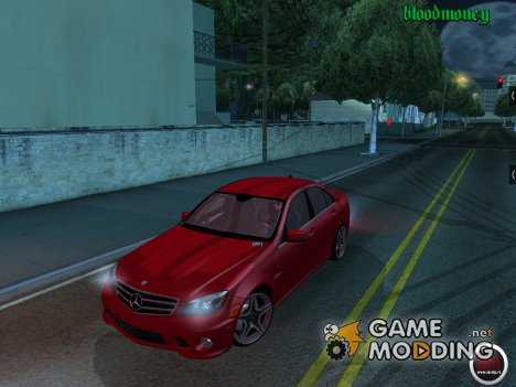 Mercedes C63 AMG Tunable для GTA San Andreas