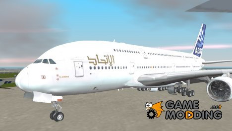 Airbus A380-800 F-WWDD Etihad Titles for GTA 3
