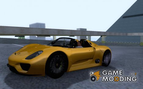 Porsche 918 Spyder Concept Study для GTA San Andreas