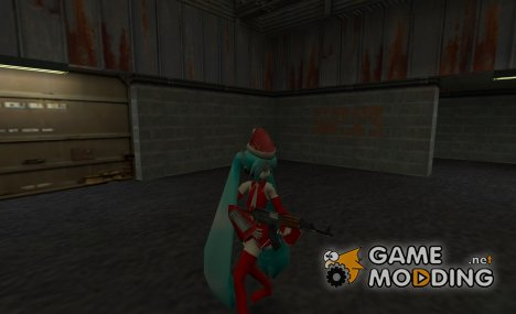 Christmas Hatsune Miku for SAS для Counter-Strike 1.6