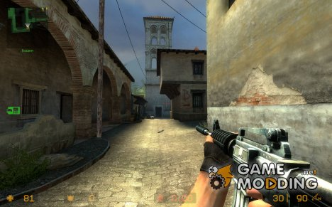 m4a1 default w/great lightning for Counter-Strike Source