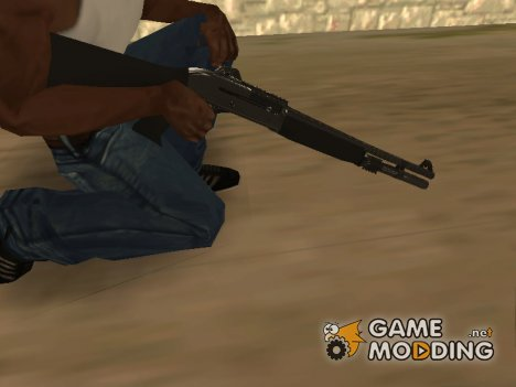 Shotgun Grey Chrome for GTA San Andreas