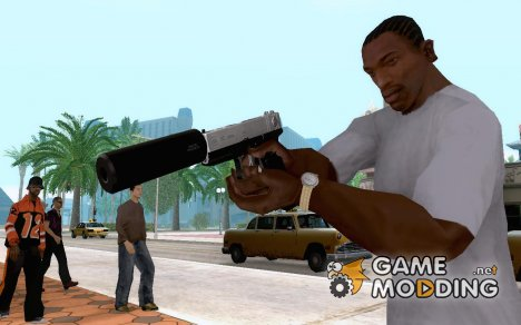 White Chrome Silenced для GTA San Andreas
