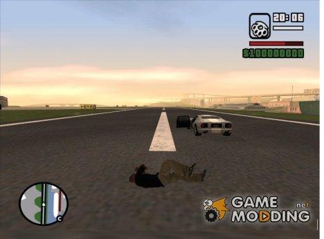Потеря здоровья при выпрыгивании из машины для GTA San Andreas