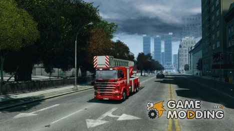 Scania Fire Ladder v1.1 для GTA 4