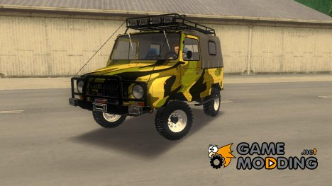 ЛуАЗ 969М Off-Road Лесной камуфляж for GTA 3