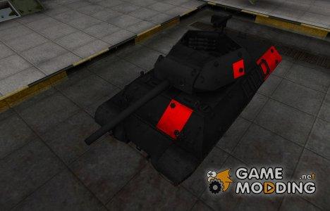 Черно-красные зоны пробития M10 Wolverine для World of Tanks