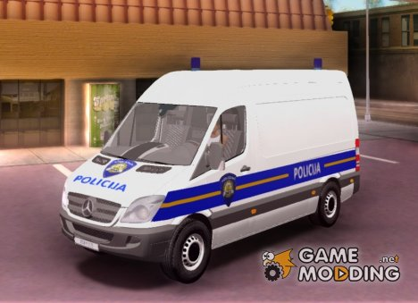Mercedes Sprinter - Croatian Police Van для GTA San Andreas