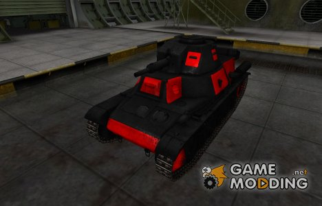 Черно-красные зоны пробития PzKpfw 38H 735 (f) for World of Tanks