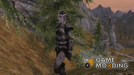Ebony Wolf Armor with Ebony Smithing for TES V Skyrim