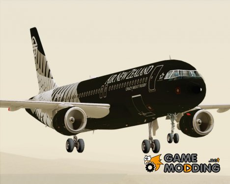 Airbus A320-200 Air New Zealand Crazy About Rugby Livery для GTA San Andreas