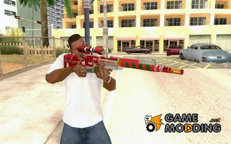 X-MAS Sniper Rifle for GTA San Andreas