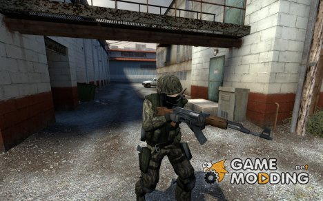 Spetsnaz green tiger stripe ct для Counter-Strike Source