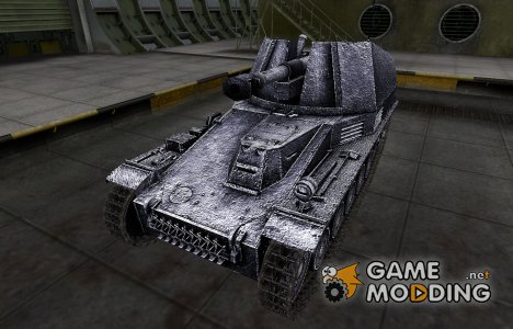 Темный скин для Wespe для World of Tanks